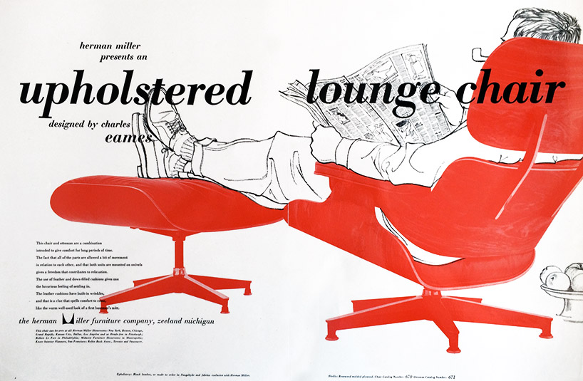 Ad designed for herman miller while at the the eames office, illustration by deborah sussman